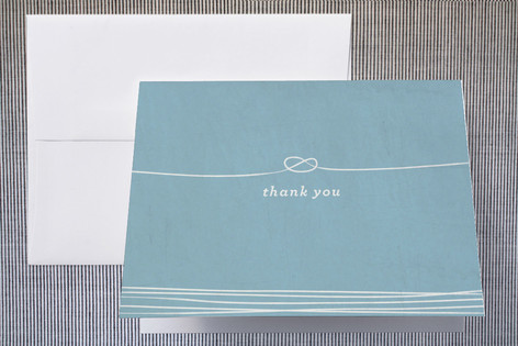 Simple Knot Thank You Cards by Christine Loo