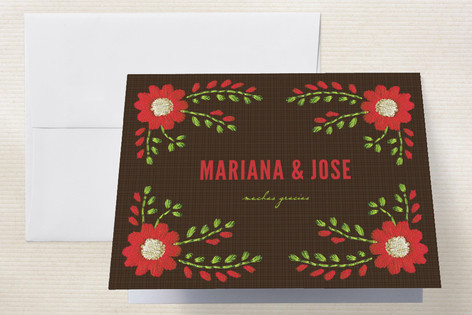 Mexican Ties Thank You Cards by Sandy Pons