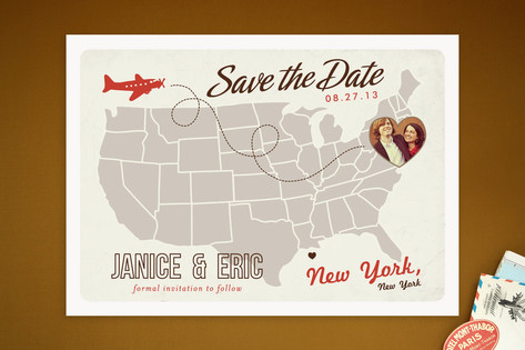 Up and Away Save the Date Cards by Unless Someone ...