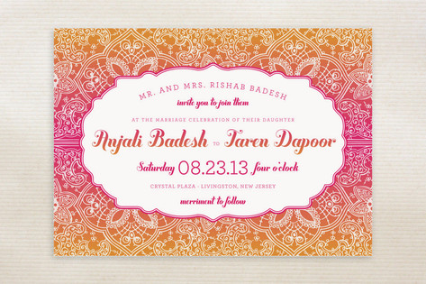 Mod Mehndi Wedding Invitations by Sarah Brown