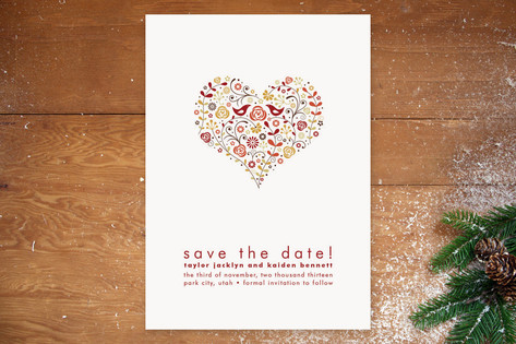 Love Birds Save the Date Cards by Jana Volfova