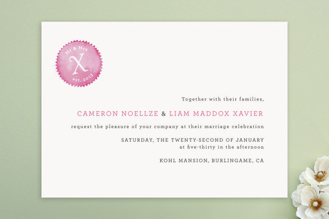 Mr and Mrs X Wedding Invitations by Design Lotus