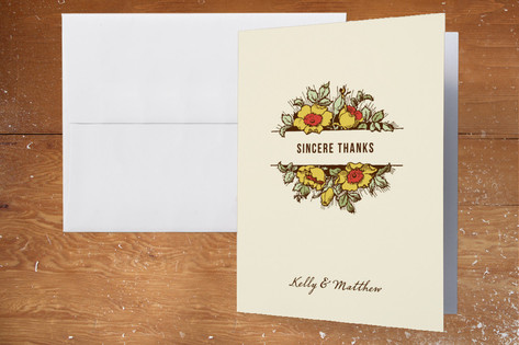 Harvest Floral Thank You Cards by Paper Dahlia