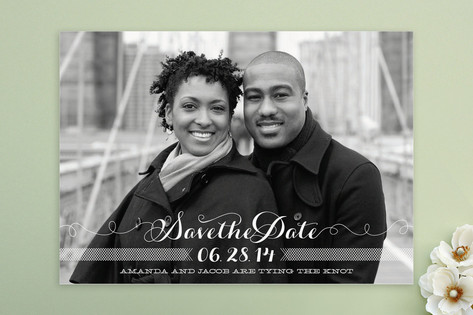 Ties that Bind Save the Date Cards by guess what