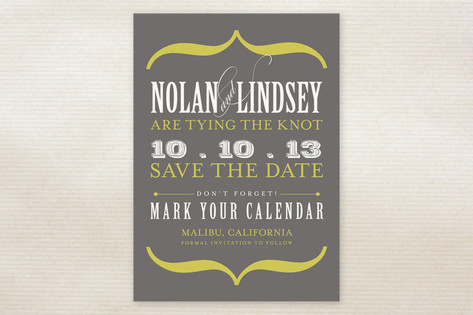 Bold Brackets Save the Date Cards by Teresa Lang D...