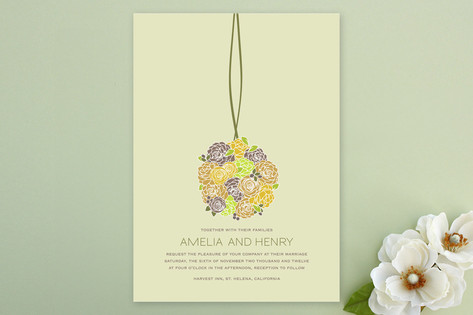 Kissing Ball Wedding Invitations by Phoebe Wong-Ol...