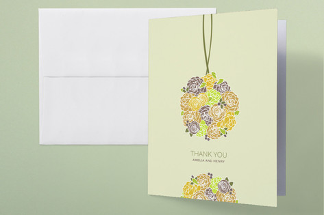 Kissing Ball Thank You Cards by Phoebe Wong-Oliver...