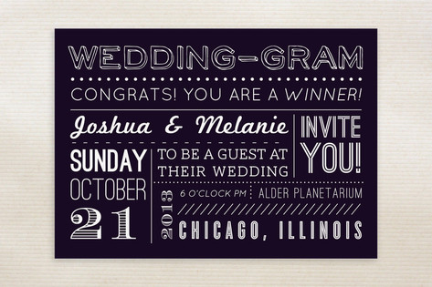 WeddingGram Wedding Invitations by Elaine Stephens...