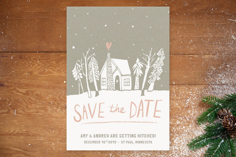 Cabin Love Save the Date Cards by Jess Taich