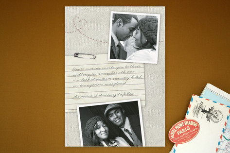 Memento Wedding Invitations by Erin Pescetto