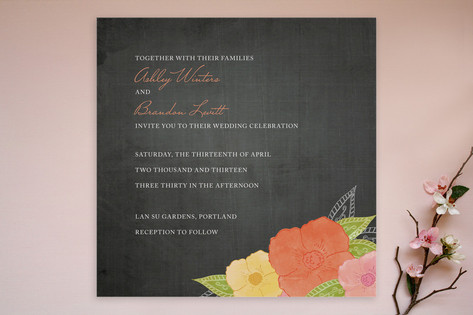 A Punch of Poppies Wedding Invitations by Wendy Va...