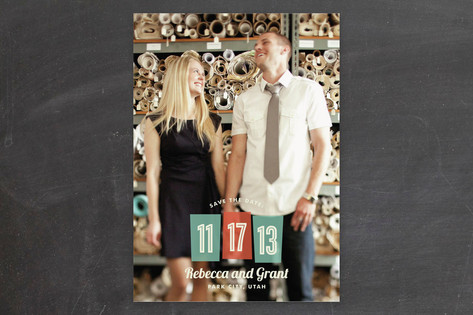 Retro Numbers Save the Date Cards by Jill Means