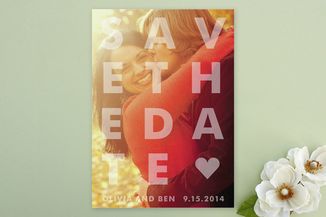 Etched Save the Date Cards by jackmove
