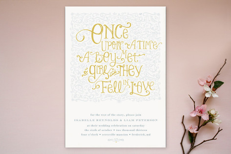 Once Upon Wedding Invitations by Erin Pescetto