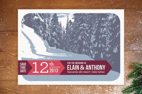 Alpine Save the Date Cards by Alex Elko Design