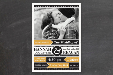 Poster Gig Wedding Invitations by Gakemi ArtDesig...