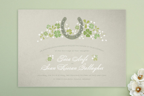 Lucky Horseshoe Wedding Invitations by 2birdstone