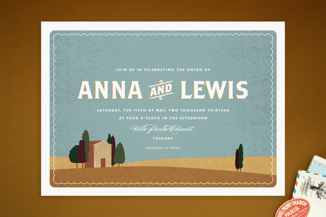 Tuscan Tableau Wedding Invitations by Wondercloud ...