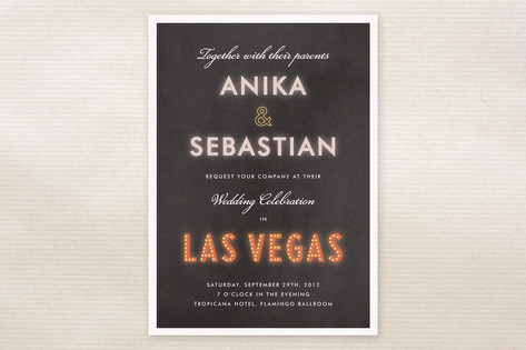 Bright Light City Wedding Invitations by root beer...