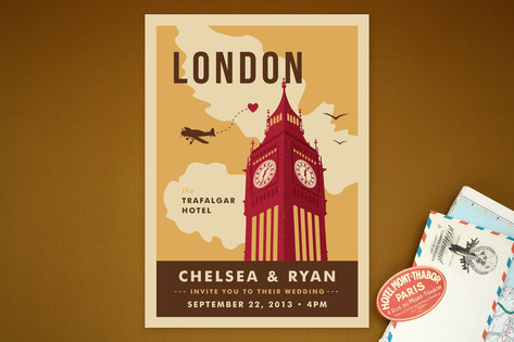 Ello London Wedding Invitations by Yolanda Mariak ...