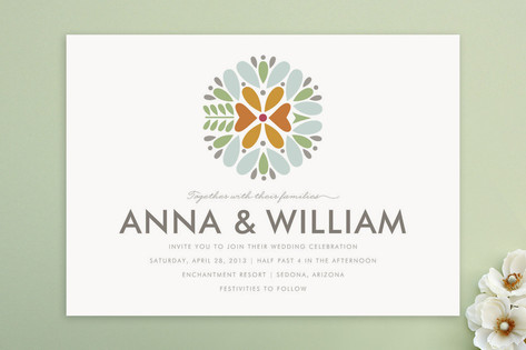 Kaleidoscope Wedding Invitations by Griffinbell St...
