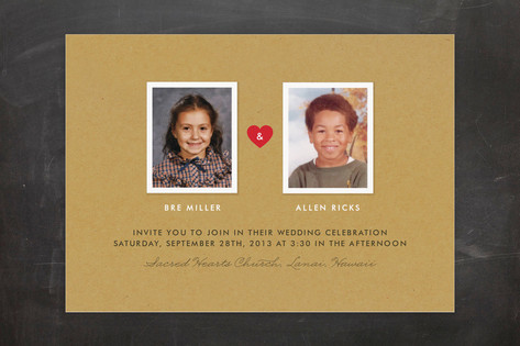 Textbook Love Story Wedding Invitations by root be...