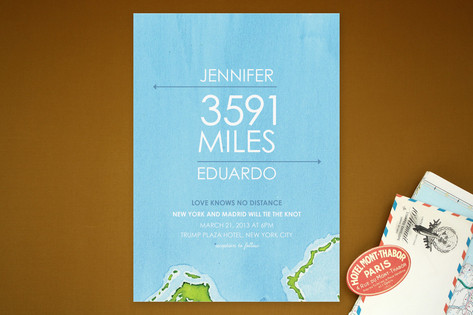 Miles of Love Wedding Invitations by Ana Gonzalez