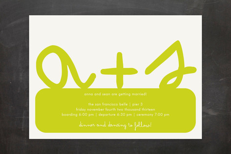Initials Wedding Invitations by Roxy
