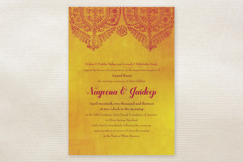 Anand Karaj Wedding Invitations by Ann Gardner