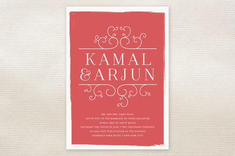 Darjeeling Wedding Invitations by annie clark