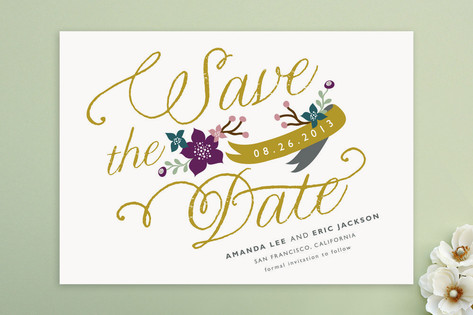 Fanciful Florals Save the Date Cards by lehan pape...
