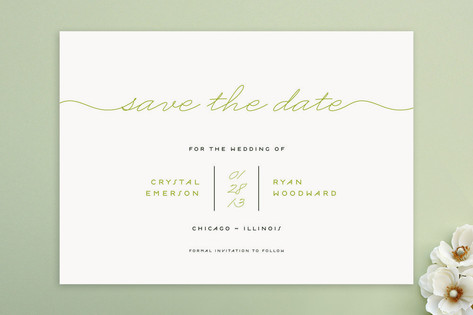 Modern Handwriting Save the Date Cards by lehan pa...