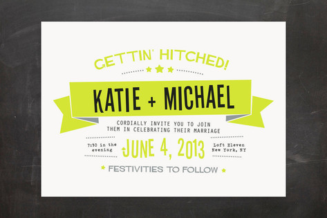 Afterparty Wedding Invitations by Ann Gardner