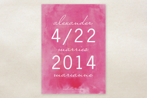 Simply Sweet Watercolor Save the Date Cards by Sar...