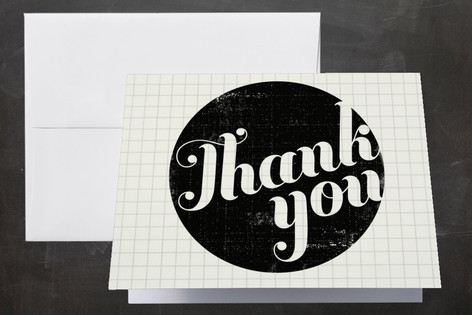 Stamped Center Thank You Cards by Alethea and Ruth