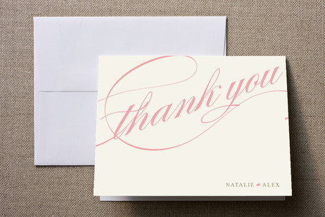 Winter Flourish Thank You Cards by annie clark