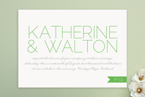 Simply Couture Wedding Invitations by j.bartyn des...