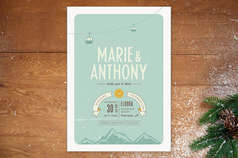 Mountain Wonderland Wedding Invitations by Jana Vo...