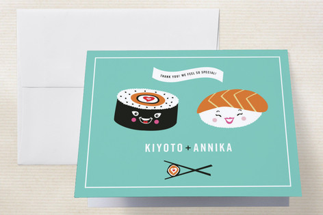 Sushi Love Thank You Cards by Casey Fritz