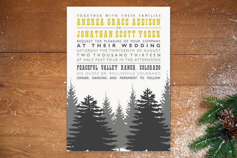 Enchanted Forest Wedding Invitations by TwoBirds P...