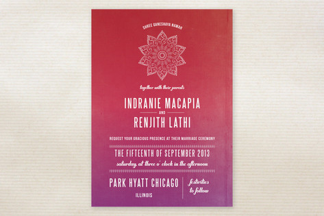 Indian Love Wedding Invitations by Cecile Paper Lo...