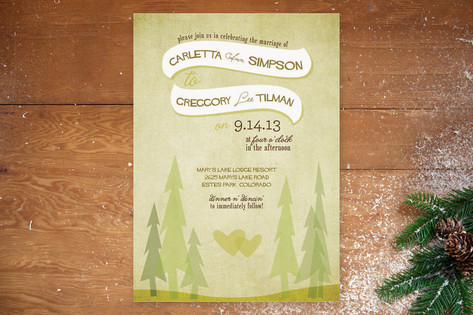 In the Woods Wedding Invitations by jenincmyk