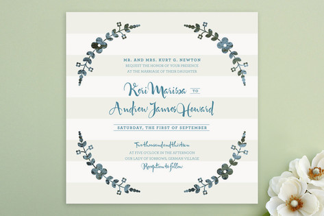 Flower Frame Wedding Invitations by stacey day