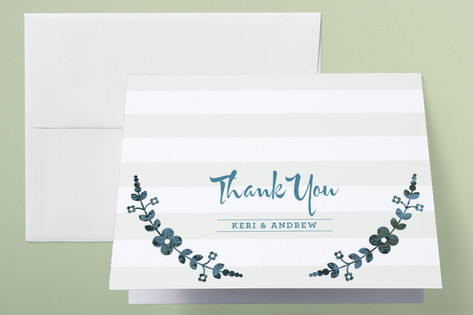 Flower Frame Thank You Cards by stacey day