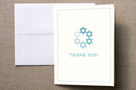 David's Stars Thank You Cards by Karen Glenn