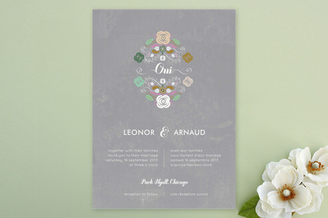Bagatelle Wedding Invitations by Cecile Paper Loun...