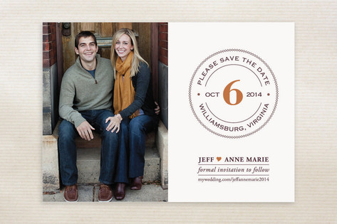 Diamond Ring Save the Date Cards by Luckybug Desig...