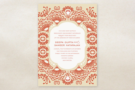 Indian Blessings Wedding Invitations by Cheer Up C...