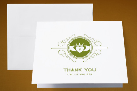 Contemporary Claddagh Thank You Cards by Cheer Up ...