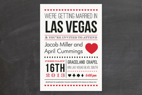 Vegas Type Wedding Invitations by Elaine Stephenso...